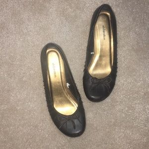 Xhileration Brown bow ballet flats
